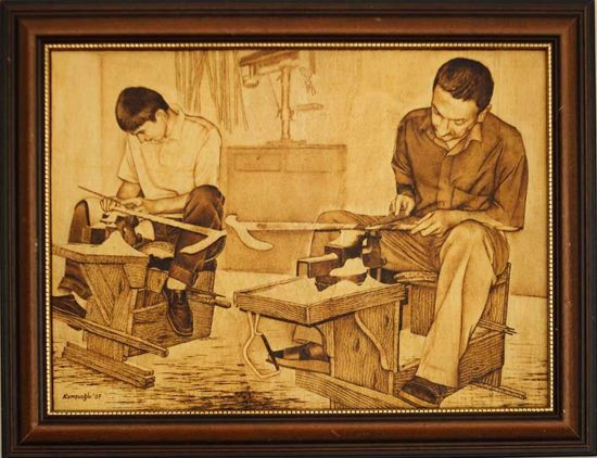 Picture of Craftsmen Making Walking Sticks