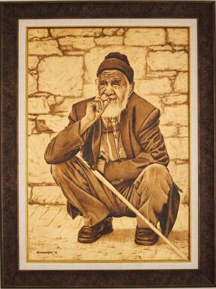 Picture of Old Man Smoking